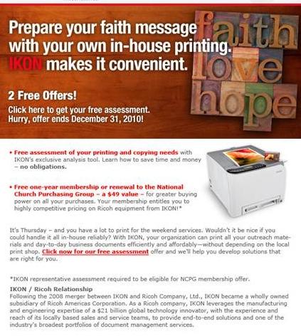 Ikon faith flyer.
