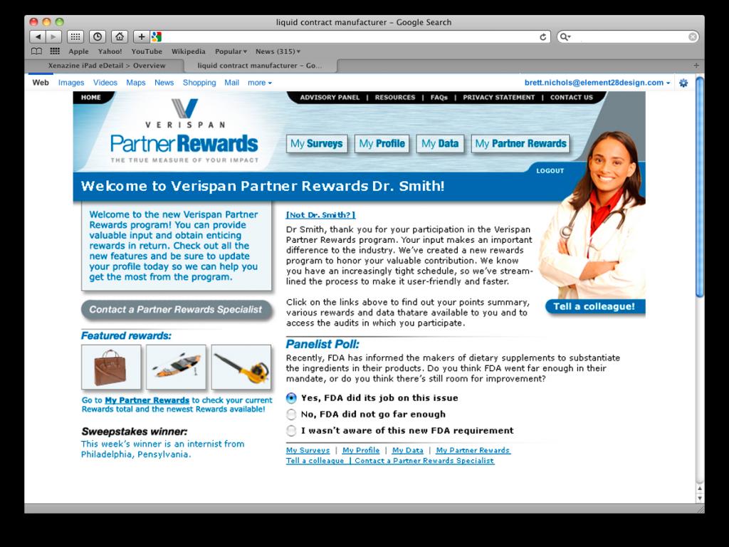 Verispan Partner Rewards.